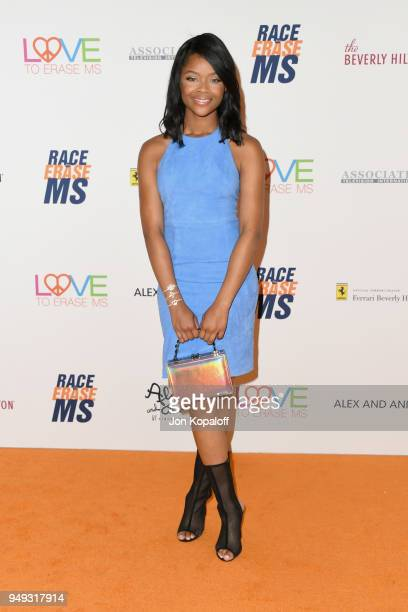 Ajiona Alexus attends the 25th Annual Race To Erase MS Gala at The Beverly Hilton Hotel on April 20 2018 in Beverly Hills California