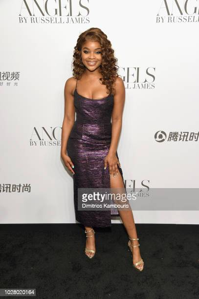 Ajiona Alexus attends the 'ANGELS' by Russell James book launch and exhibit hosted by Cindy Crawford and Candice Swanepoel at Stephan Weiss Studio on...