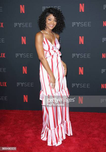 Ajiona Alexus attends the Netflix FYSEE KickOff at Netflix FYSEE At Raleigh Studios on May 6 2018 in Los Angeles California