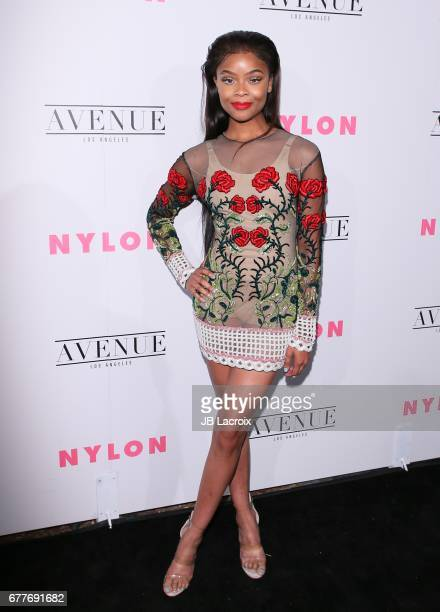 Ajiona Alexus attends the NYLON Young Hollywood Party at AVENUE Los Angeles on May 2 2017 in Los Angeles California