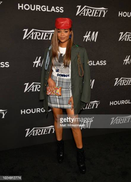 Ajiona Alexus attends Variety's annual Power of Young Hollywood at Sunset Tower Hotel on August 28 2018 in West Hollywood California