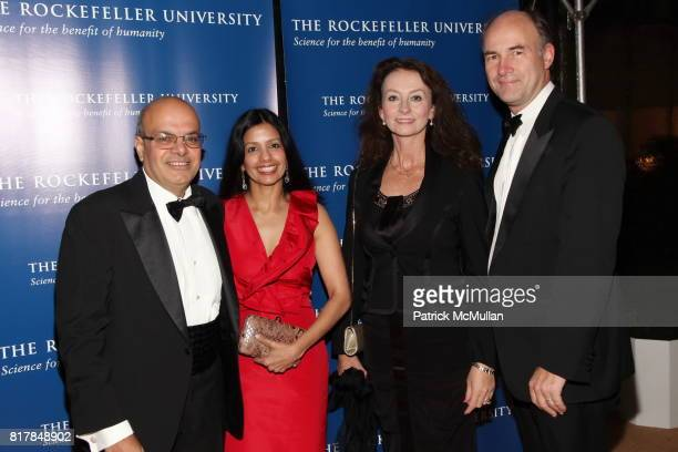Ajit Jain Tinku Jain Jane Masojada and Bronek Masojada attend The Rockefeller University Hospital Centennial Celebration at The Rockefeller...