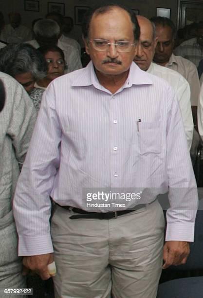 Ajit Wadekar at Dilip Sardesai Condolence Meeting at CK Nayudu Hall