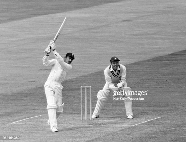 Ajit Wadekar batting for India during his innings of 77 runs in the tour match between Warwickshire and the Indians at Edgbaston Birmingham 12th July...