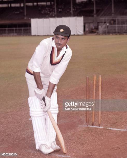 Ajit Wadekar of Bombay Cricket Club and India at Brabourne Stadium Bombay India circa 1964 Wadekar played 37 Tests for India between 196667 and 1974...