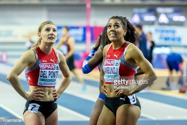 Ajla SUI and KAMBUNDJI Mujinga SUI competing in the 60m Women Final event during day TWO of the European Athletics Indoor Championships 2019 at...