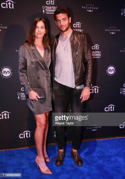 Ajla Tomljanovic and Matteo Berrettini attend the Citi Taste of Tennis Melbourne Exclusive on January 16, 2020 in Melbourne, Australia.