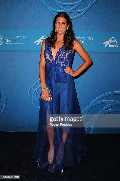 Ajla Tomljanovic arrives at the 2014 Newcombe Medal Awards at Crown Palladium on November 24 2014 in Melbourne Australia
