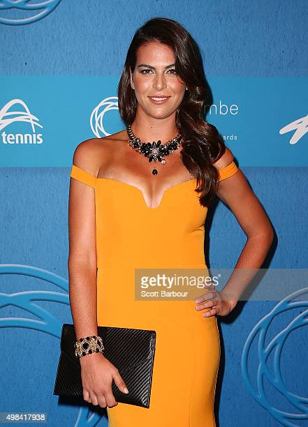 Ajla Tomljanovic arrives at the 2015 Newcombe Medal at Crown Palladium on November 23 2015 in Melbourne Australia