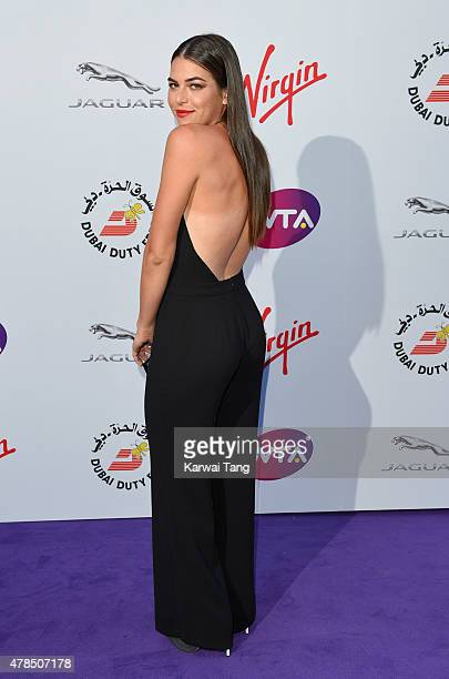 Ajla Tomljanovic attends the WTA PreWimbledon Party at Kensington Roof Gardens on June 25 2015 in London England