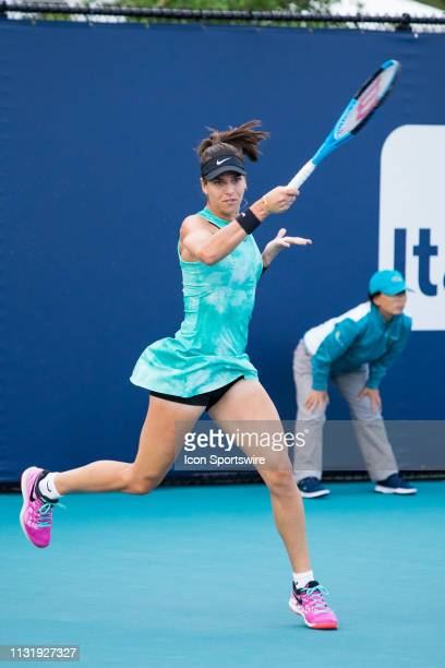 Ajla Tomljanovic in action during the Miami Open on March 20 2019 at Hard Rock Stadium in Miami Gardens FL
