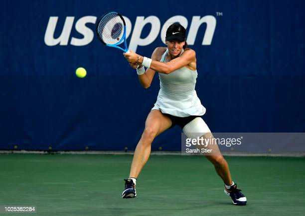 Ajla Tomljanovic of Australia during her women's singles second round match against Katerina Siniakova of Czech Republic on Day Four of the 2018 US...