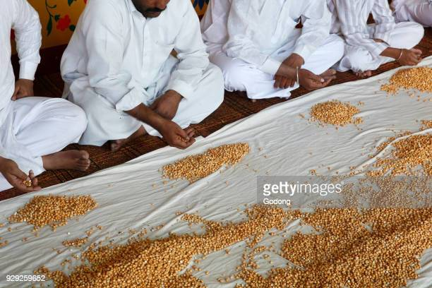 Ajmer Sharif dargah Rajasthan Khatam e khwajagan meditation performed with chick peas India