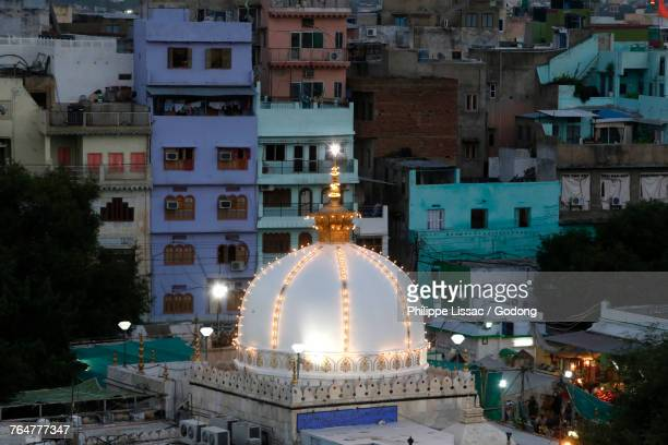 Ajmer Sharif dargah, Rajasthan. Shrine dome in the evening. India.