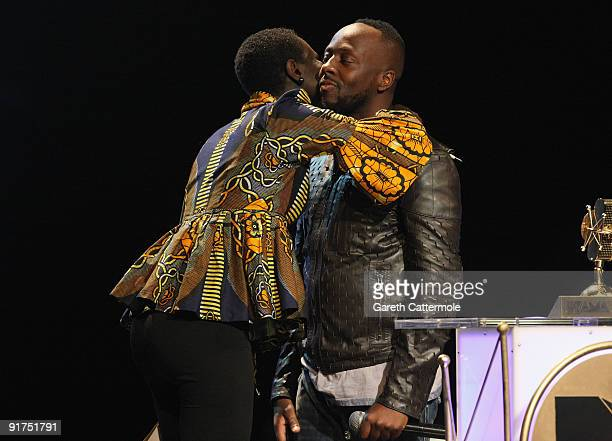 Ajuma Nasenyana and Wyclef Jean present the Artist of The Year Award at the MTV Africa Music Awards with Zain at the Moi International Sports Centre...