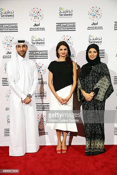 Ajyal Youth Film Festival Director and Doha Film Institute CEO Fatma Al Remaihi Doha Film Institute Chief Administration Officer Abdulla Al Mosallam...