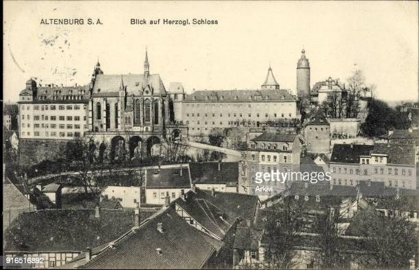 Ak Altenburg in Thüringen Blick auf das Herzogliche Schloss und den Ort