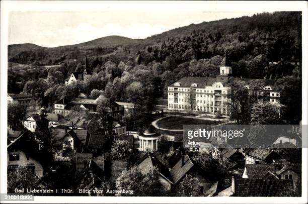 Ak Bad Liebenstein im Wartburgkreis Blick vom Aschenberg auf die Stadt