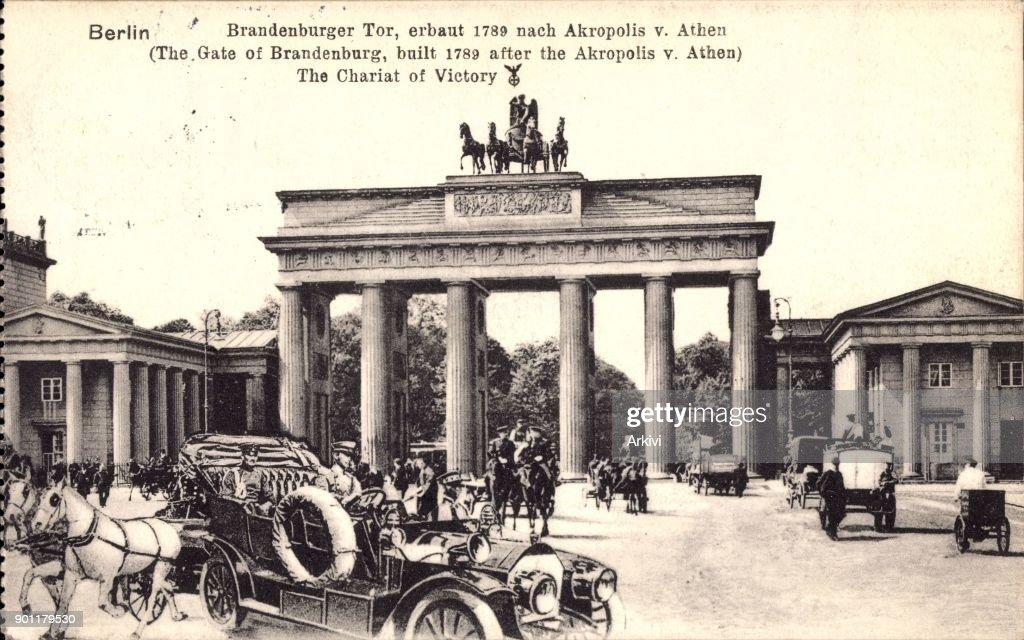 Ak Berlin ak berlin brandenburger tor mit quadriga am pariser platz pictures