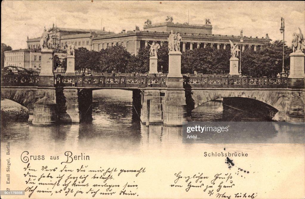 Ak Berlin ak berlin flusspartie mit schlossbrücke und schloss pictures