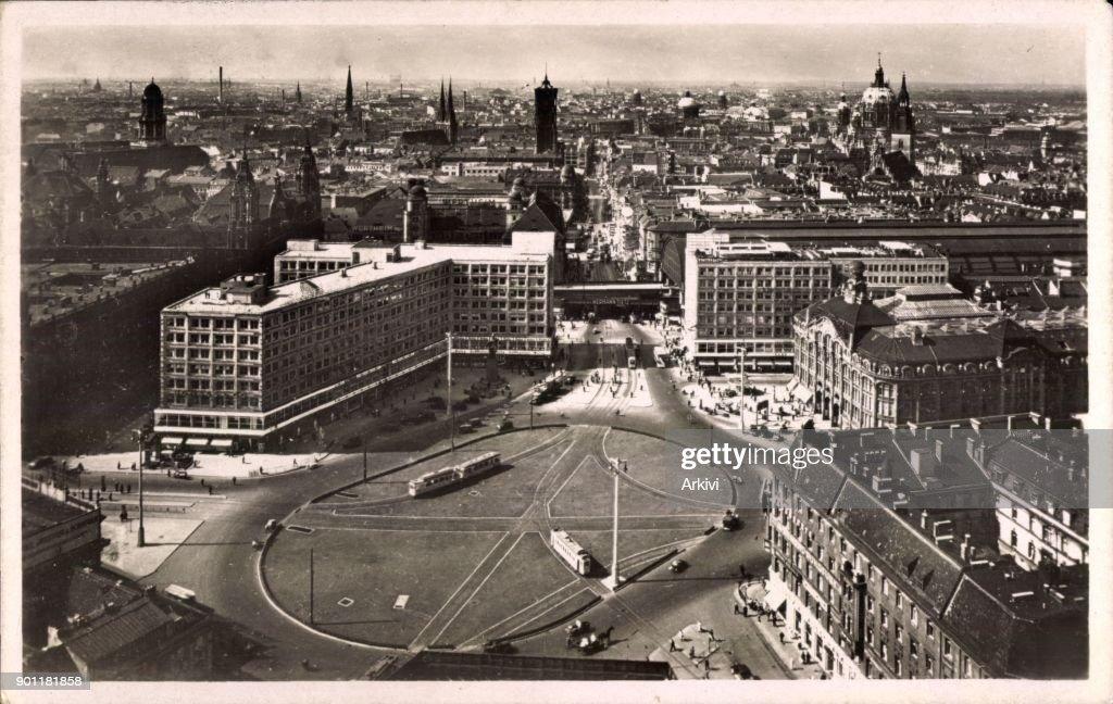 Ak Berlin ak berlin mitte blick auf den alexanderplatz oben straßenbahn
