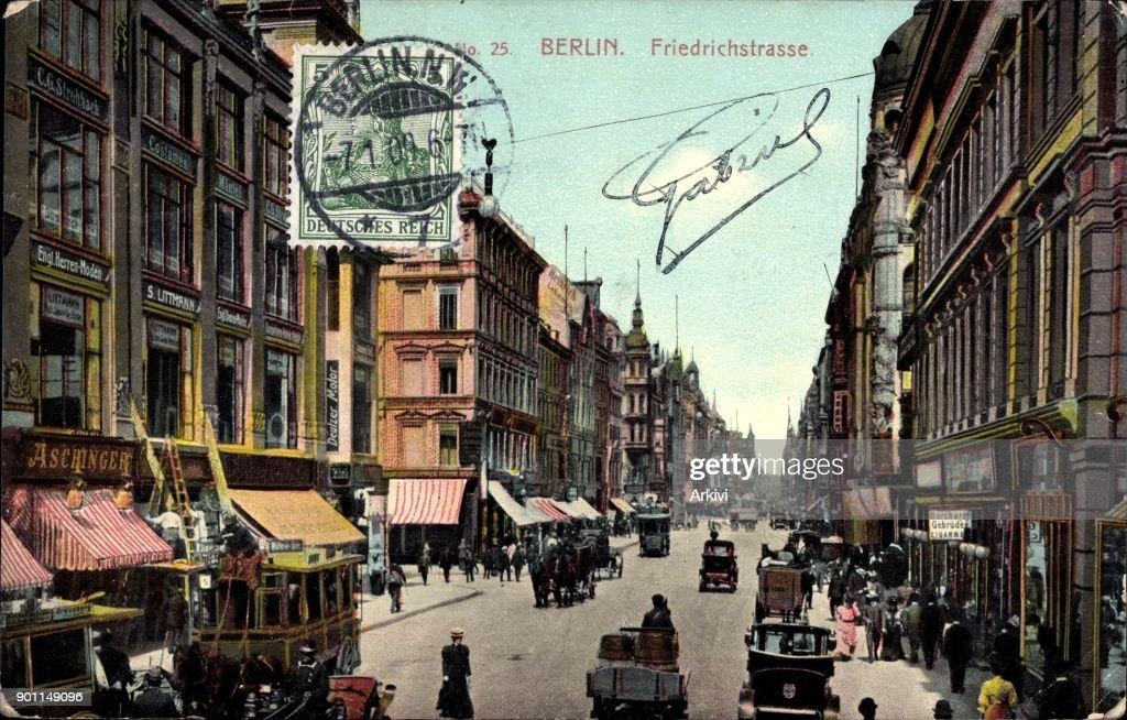 Ak Berlin ak berlin mitte blick in die belebte friedrichstraße pictures