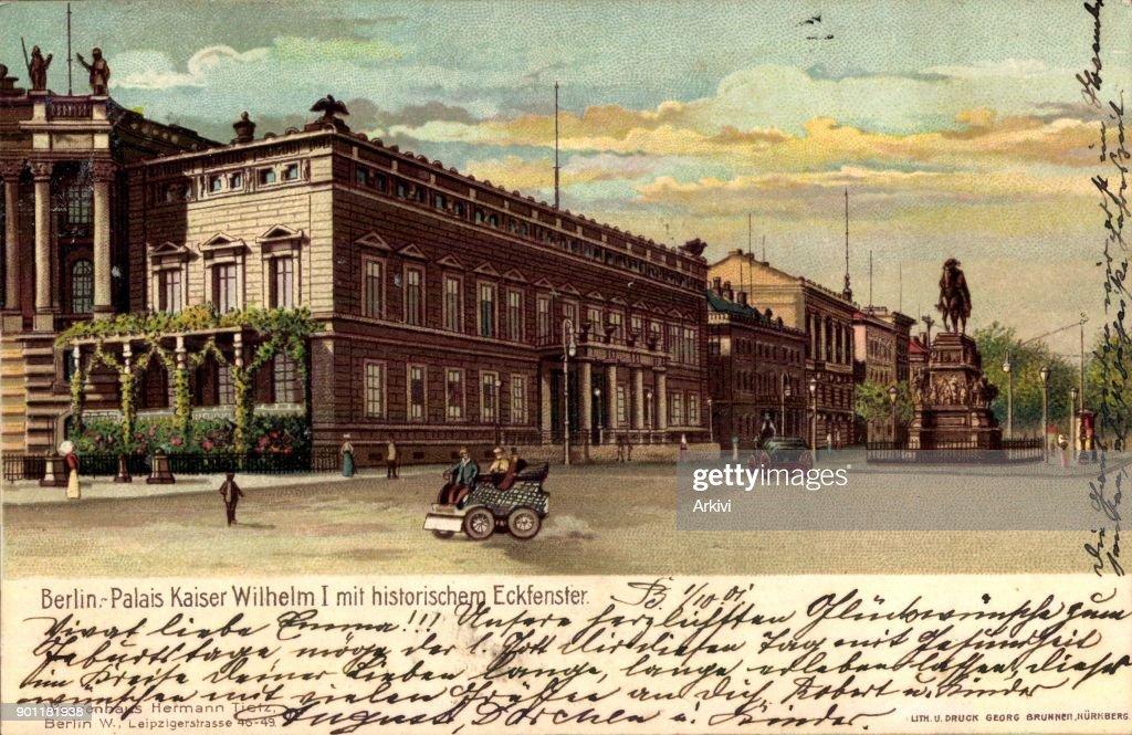 Ak Berlin ak berlin mitte palais kaiser wilhelm i mit historischem