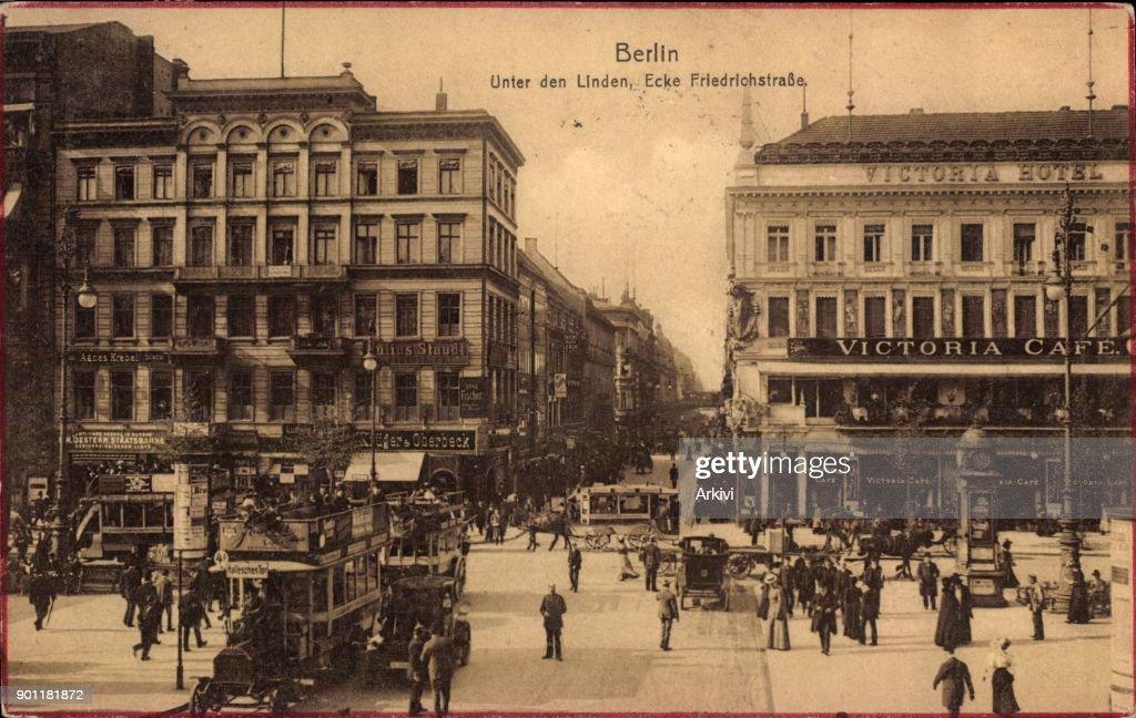 Ak Berlin ak berlin mitte unter den linden ecke friedrichstraße