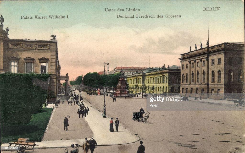 Ak Berlin ak berlin unter den linden denkmal friedrich des großen palais