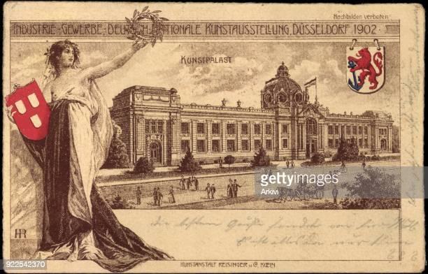 Ak Düsseldorf Internat Gewerbe Kunstausstellung 1902