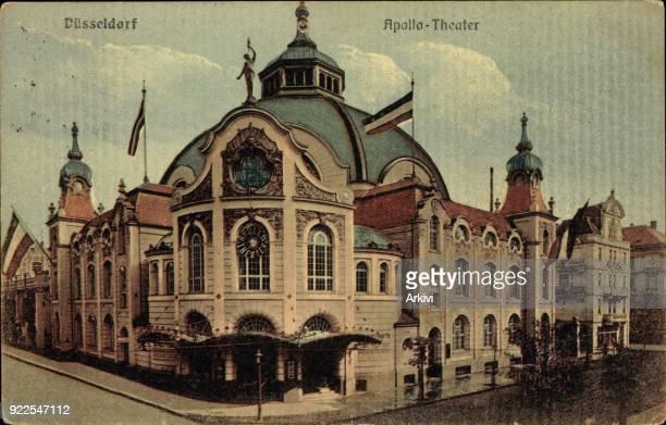 Ak Düsseldorf Westf Seitenansicht des Apollotheaters