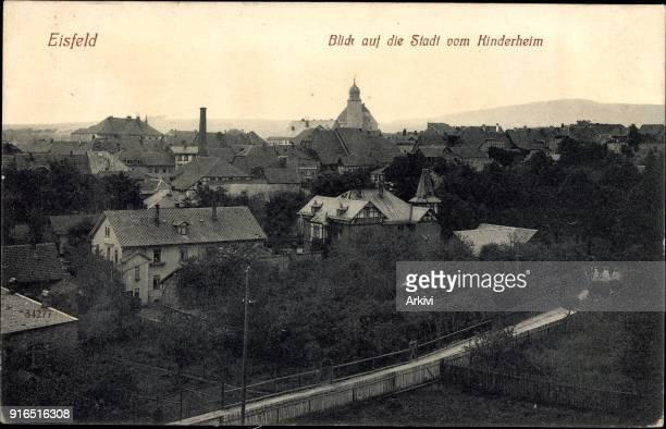 Ak Eisfeld in Thüringen Blick auf die Stadt vom Kinderheim aus