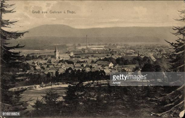 Ak Gehren in Thüringen Blick aus der Ferne auf die Stadt