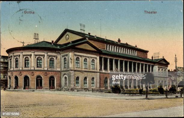 Ak Gotha im Thüringer Becken Blick auf das Theater Außenansicht