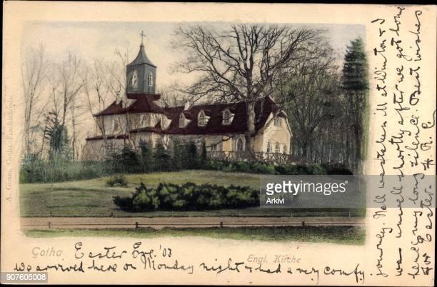 Ak Gotha im Thüringer Becken Blick auf Englische Kirche