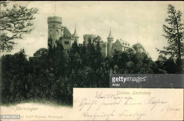 Ak Meiningen in Südthüringen Blick auf Schloss Landsberg