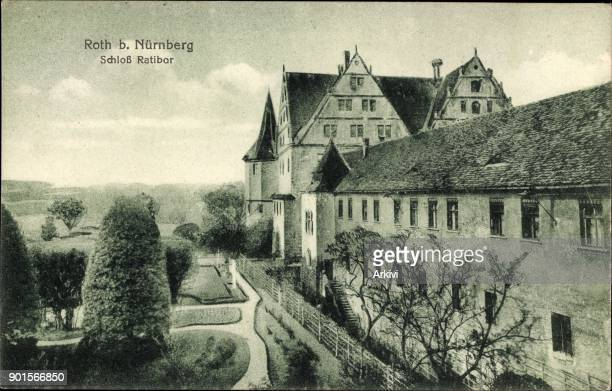 Ak Roth in Mittelfranken Seitenansicht von Schloss Ratibor