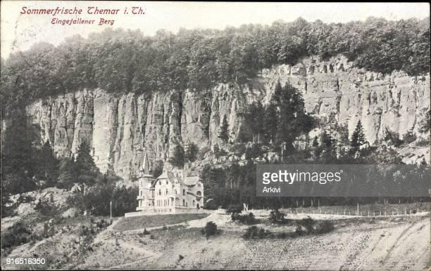 Ak Themar in Thüringen Blick auf Eingefallener Berg Schloss