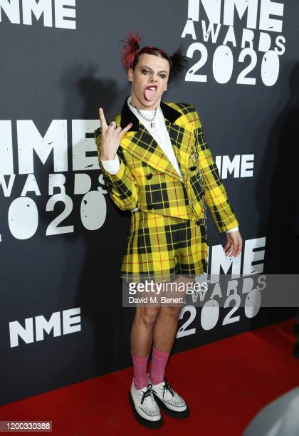 YUNGBLUD aka Dominic Harrison attends The NME Awards 2020 at the O2 Academy Brixton on February 12 2020 in London England