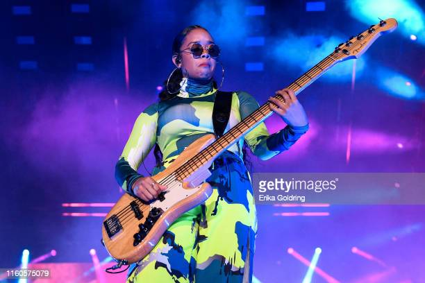 R aka Gabi Wilson performs during the 2019 ESSENCE Festival at the MercedesBenz Superdome on July 06 2019 in New Orleans Louisiana