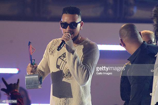 Aka wins best group during the 2015 MTV Africa Music Awards on July 182015 at the Durban International Conference Centre in DurbanSouth Africa The...