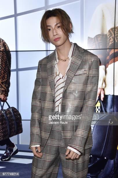 AKAimp attends the Fendi show during Milan Men's Fashion Week Spring/Summer 2019 on June 18 2018 in Milan Italy