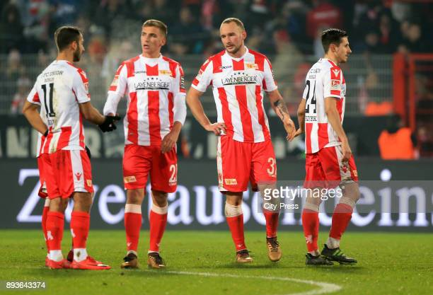 Akaki Gogia Grischa Proemel Toni Leistner and Steven Skrzybski of 1 FC Union Berlin during the game between Union Berlin and dem FC Ingolstadt 04 on...