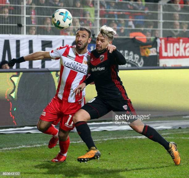 Akaki Gogia of 1 FC Union Berlin and Sonny Kittel of FC Ingolstadt 04 during the game between Union Berlin and dem FC Ingolstadt 04 on december 15...