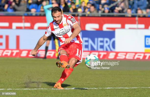 Akaki Gogia of 1 FC Union Berlin during the second Bundesliga match between Eintracht Braunschweig and Union Berlin on February 18 2018 at...