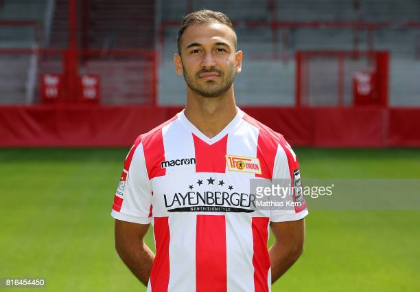 Akaki Gogia of 1 FC Union Berlin poses during the team presentation at Stadion an der Alten Foersterei on July 17 2017 in Berlin Germany