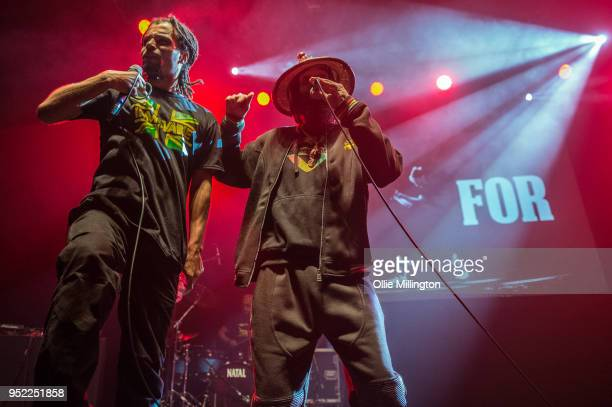 Akala and Asheber perform live on stage at O2 Shepherd's Bush Empire on April 27 2018 in London England