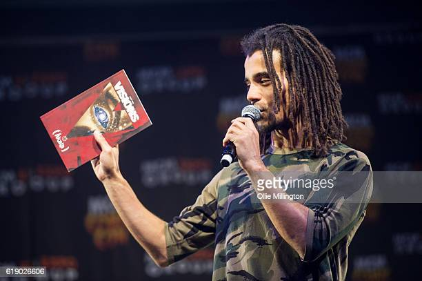 Akala performing the world premier of his new graphic novel Visions on day 2 of the London Comic Con at ExCel on October 29 2016 in London England