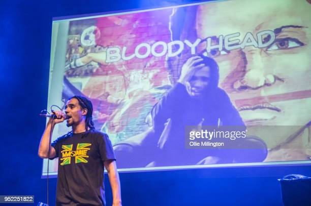 Akala performs live on stage at O2 Shepherd's Bush Empire on April 27 2018 in London England