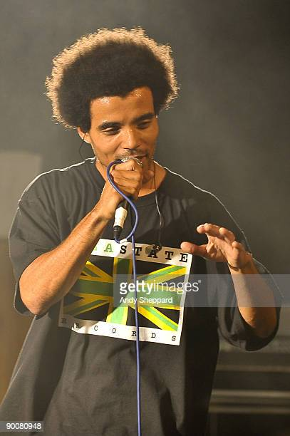 Akala performs on stage at The Scala on August 25 2009 in London England